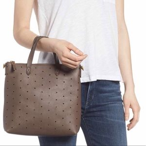 NWT Madewell Mini Transport Perforated Leather Bag